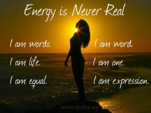 Energy is never Real